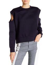DIESEL - Cold Shoulder Long Sleeve Sweatshirt - Lyst