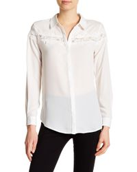 Catherine Malandrino - Woven Button Down Blouse - Lyst