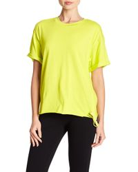 Kendall + Kylie - Ruched Side Tie Tee - Lyst