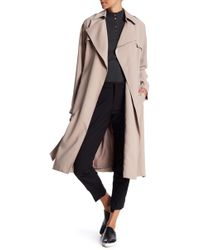 Cole Haan | Drapey Belted Trench Coat | Lyst