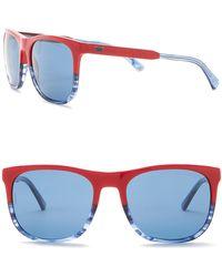 Emporio Armani - Men's Wayfarer 56mm Acetate Frame Sunglasses - Lyst