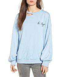 Lush - Embroidered Cutout Sweatshirt - Lyst