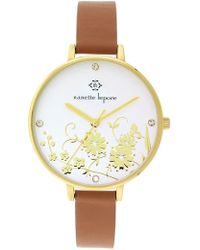 Nanette Lepore - Women's Floral Dial Leather Strap Watch - Lyst