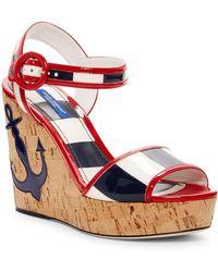 Dolce & Gabbana - Nautical Platform Wedge Sandal - Lyst