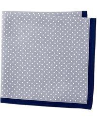 John W. Nordstrom - Dot Solid Border Silk Pocket Square - Lyst