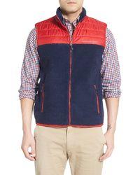 Vineyard Vines - Colorblock Full Zip Fleece Vest - Lyst