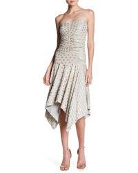 Sky - Jessica Heart Print Handkerchief Hem Dress - Lyst