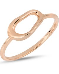 Bony Levy - 14k Rose Gold Organic Open Circle Accent Ring - Lyst