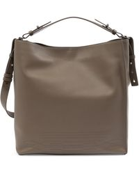 AllSaints - Cooper North/south Leather Tote Bag - Lyst