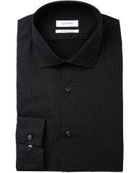 CALVIN KLEIN 205W39NYC - Printed Black Dot Extra Slim Fit Dress Shirt - Lyst