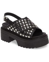 Shellys London - Diana Platform Leather Sandal - Lyst