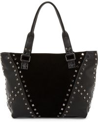 Sorial - Levi Contrast Leather & Suede Tote - Lyst