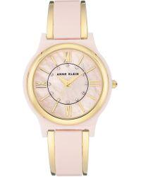 Anne Klein - Women's Quartz Crystal Bangle Watch, 36mm - Lyst