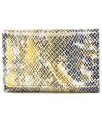 Hobo Jill Trifold Leather Wallet - Multicolor