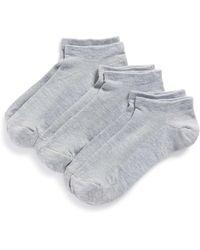 Zella - Fitness 3-pack Liner Socks, Grey - Lyst