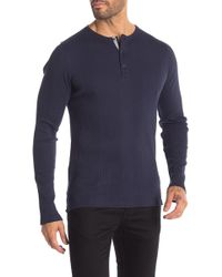 Michael Kors - Solid Variegated Rib Knit Henley Shirt - Lyst