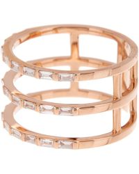 EF Collection - 14k Rose Gold Triple Baguette Diamond Spiral Ring - Size 7 - 0.33 Ctw - Lyst