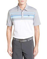 Travis Mathew - Leeway Stripe Pima Cotton Jersey Golf Polo - Lyst