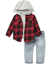 7 For All Mankind - Hoodie Shirt, Top, Jeans Set (baby Boys) - Lyst