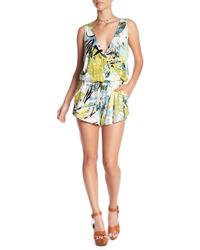 Green Dragon - Sleeveless Tropical Romper - Lyst