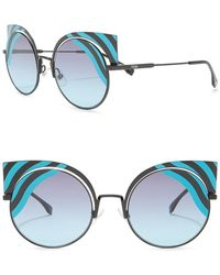 0cfb9851a3b Lyst - Fendi Ff0176 s Cutout Cat Eye Sunglasses