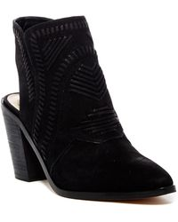 Vince Camuto - Binks Whipstitched Cutout Bootie - Lyst