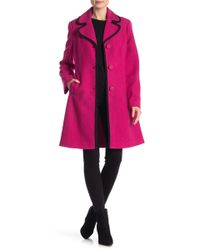 Kate Spade - Front Button Wool Coat - Lyst