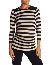 Lamade - Sienna Long Sleeve Striped Tee (maternity) - Lyst