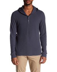 Vince - Hooded Henley - Lyst