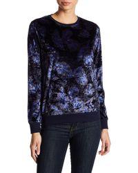 Nanette Nanette Lepore - Printed Velvet Pullover - Lyst