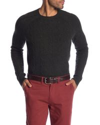 Brooks Brothers - Cable Knit Merino Wool Sweater - Lyst