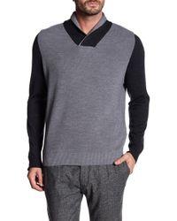 Thomas Dean - Fine Merino Wool Colorblock Pullover - Lyst