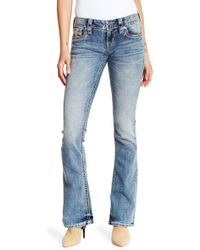 Rock Revival - Crystal Embellished Boot Cut Jeans - Lyst