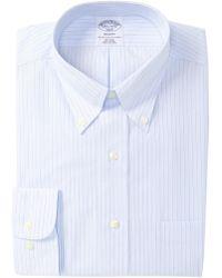 Brooks Brothers - Stripe Print Regent Fit Dress Shirt - Lyst