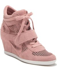 913d1876f55c Ash - Bowie Suede Perforated Wedge Sneaker - Lyst