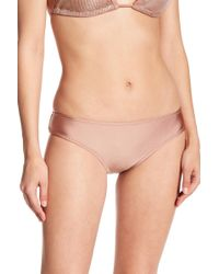 Sam Edelman - Metallic Cheeky Bikini Bottom - Lyst
