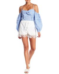 Sugarlips - Sultry Scalloped Crochet Lace Shorts - Lyst