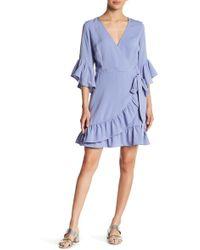 Lucy Paris - Bell Sleeve Wrap Dress - Lyst