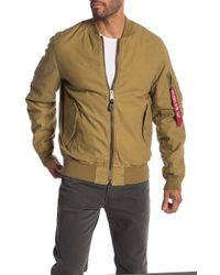 Alpha Industries - Mock Neck Reversible Jacket - Lyst
