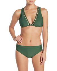 00242dfd5bd68 MICHAEL Michael Kors High-waisted Bikini Bottoms W/ Ladder Insert in ...