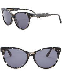 Bottega Veneta - 52mm Rounded Cat Eye Sunglasses - Lyst