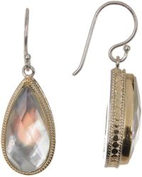 Anna Beck - Gold Plated Mother Of Pearl Drop Earrings - Lyst