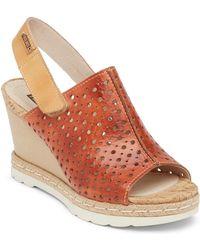 Pikolinos - Bali Leather Wedge Sandal - Lyst