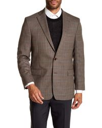 Brooks Brothers - Brown Houndstooth Two Button Notch Lapel Wool Regent Fit Sport Coat - Lyst