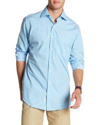 Peter Millar - Wharf Stripe Print Regular Fit Shirt - Lyst