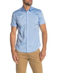 Parke & Ronen - Solid Stretch Slim Fit Shirt - Lyst