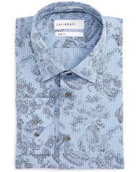Calibrate - Trim Fit Paisley Plaid Dress Shirt - Lyst