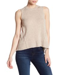 Brochu Walker - Arrow Pleated Looker Wool & Cashmere Blend Tank - Lyst