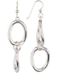 Simon Sebbag - Sterling Silver Double Wire Open Earrings - Lyst
