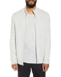 Calibrate - Ribbed Front Zip Sweater - Lyst